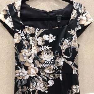 Gorgeous WHBM black and floral dress!